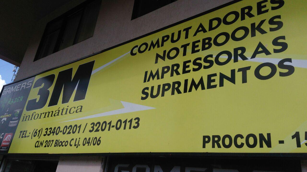 3M Informática, CLN 207, Rua da informática, Bloco C, Asa Norte, Comércio Brasilia