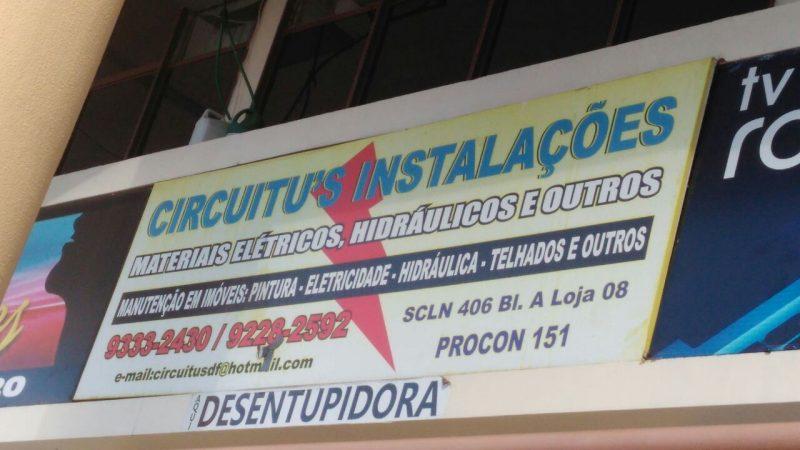 Circuitus Instalações, Materiais Elétricos, Hidráulicos e Outros, SCLN 406, Bloco A, Asa Norte, Comércio Brasilia