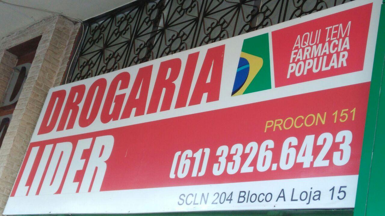Drogaria Lider, SCLN 204, Norte, Bloco A, Asa Norte, Comércio Brasilia