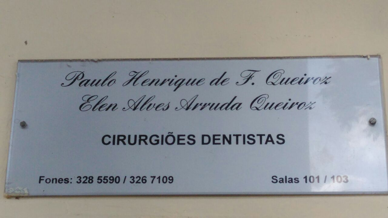 Paulo Henrique de F. Queiroz e Elen Alves Arruda Queiros, Cirurgião Dentista, CLN 403, Norte, Bloco B, Asa Norte, Comércio Brasilia