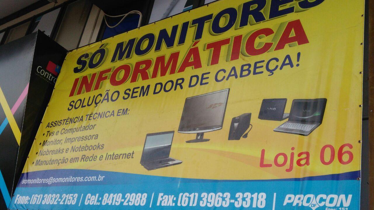Só Monitores Informática, CLN 207, Rua da informática, Bloco A, Asa Norte, Comércio Brasilia
