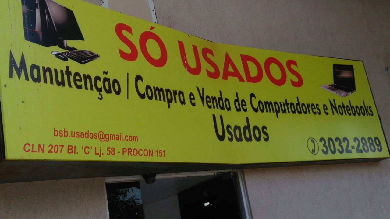 Photo of Só Usados, Manutenção, compra e venda de computadores e notebooks, Usados CLN 207, Asa Norte