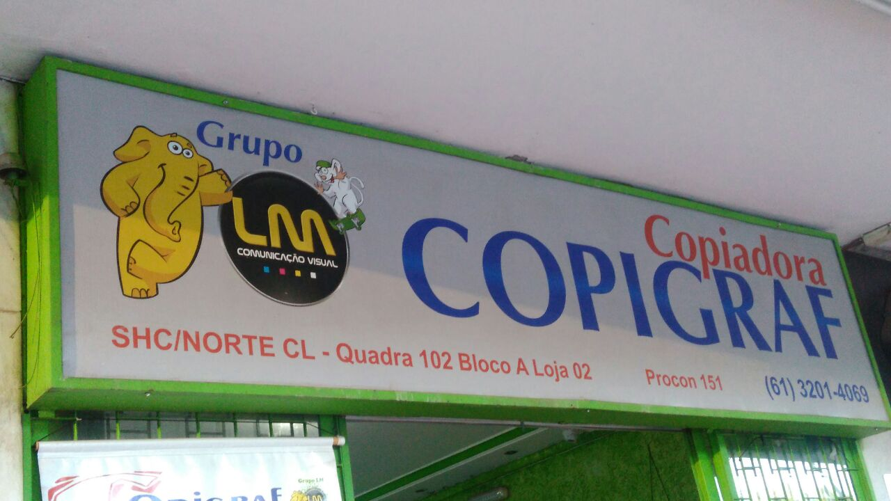 Copiadora Copigraf, CLN 102, Bloco A, Asa Norte, Comércio Brasilia