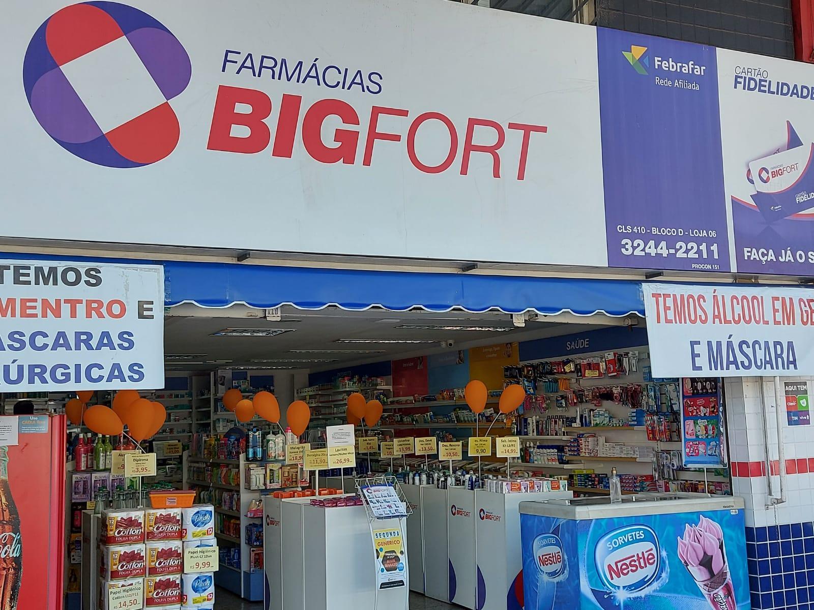 Farmácias BigFort Quadra 410 Sul, Bloco D, Asa Sul, Comércio Brasília