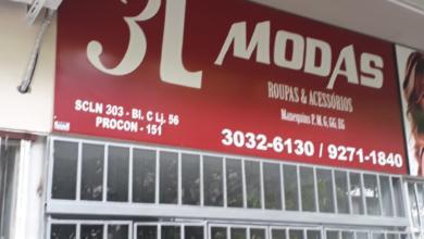 3L Modas, Roupas e Acessórios, CLN 303, Quadra 303 Norte, Bloco C, Comércio Brasília