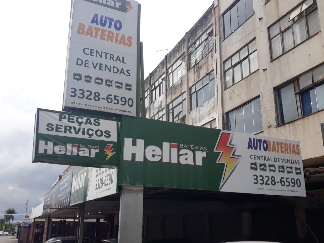 Auto Bateria, Baterias Heliar, Central de Vendas, Quadra 702 Norte, Bloco F, Asa Norte, Comércio Brasília