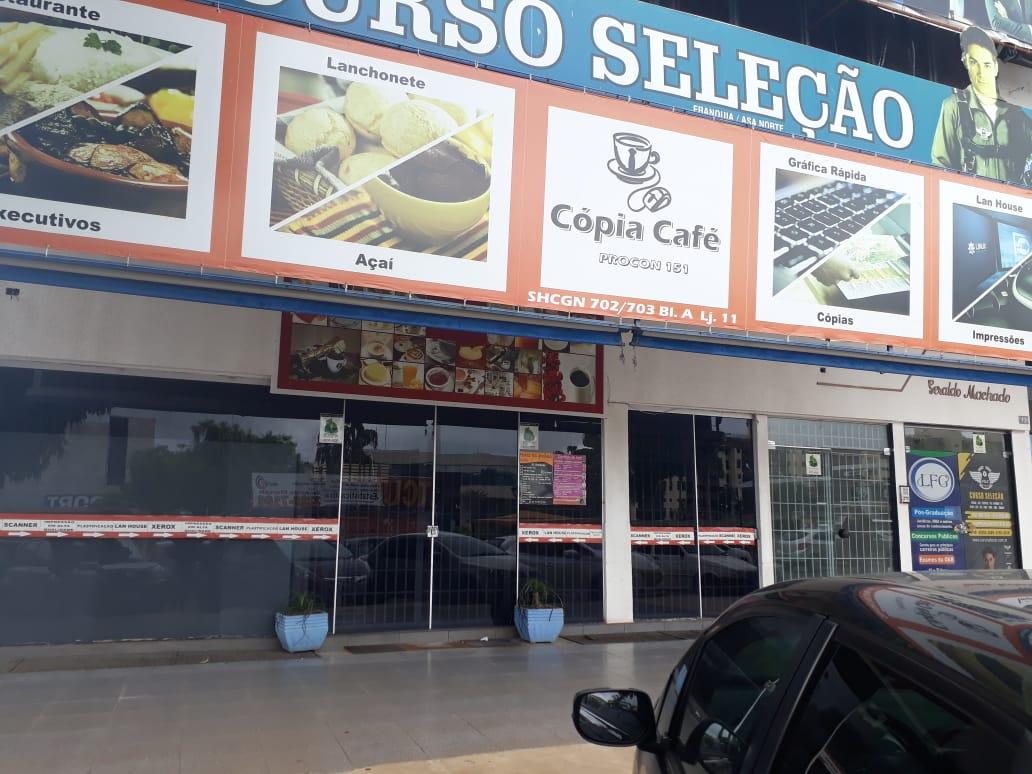 Cópia Café, Cafeteria, Lan House, Lanchonete, Quadra 702 703 Norte, Bloco A, Comércio Brasília
