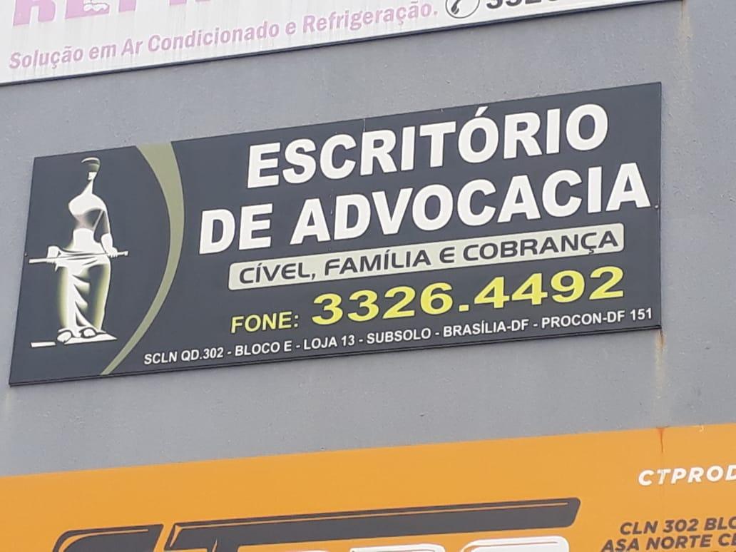 Escritório de Advocacia 302 Norte, Cível, Família e Cobranças, Quadra 302 Norte, Bloco E, Loja 13 Subsolo, Asa Norte, Comércio Brasília
