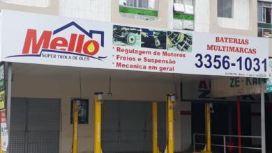 Mello Super Troca, Regulagem de motores, freio e supensão, mecânica em geral, bateria multimarcas, Quadra 702 Norte, Bloco F, Asa Norte, Comércio Brasília.