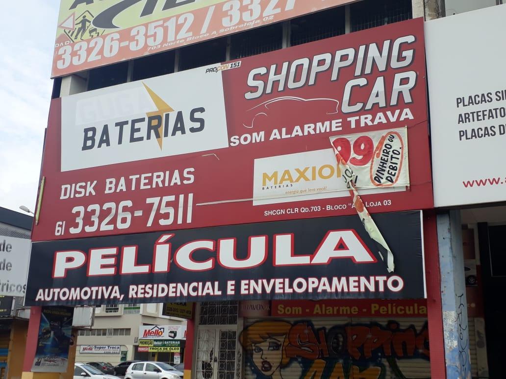 Shopping Car, Som, alarme, travas, peliculas, Quadra 703 Norte, Bloco A, W3 Norte, Asa Norte, Comércio Brasilia