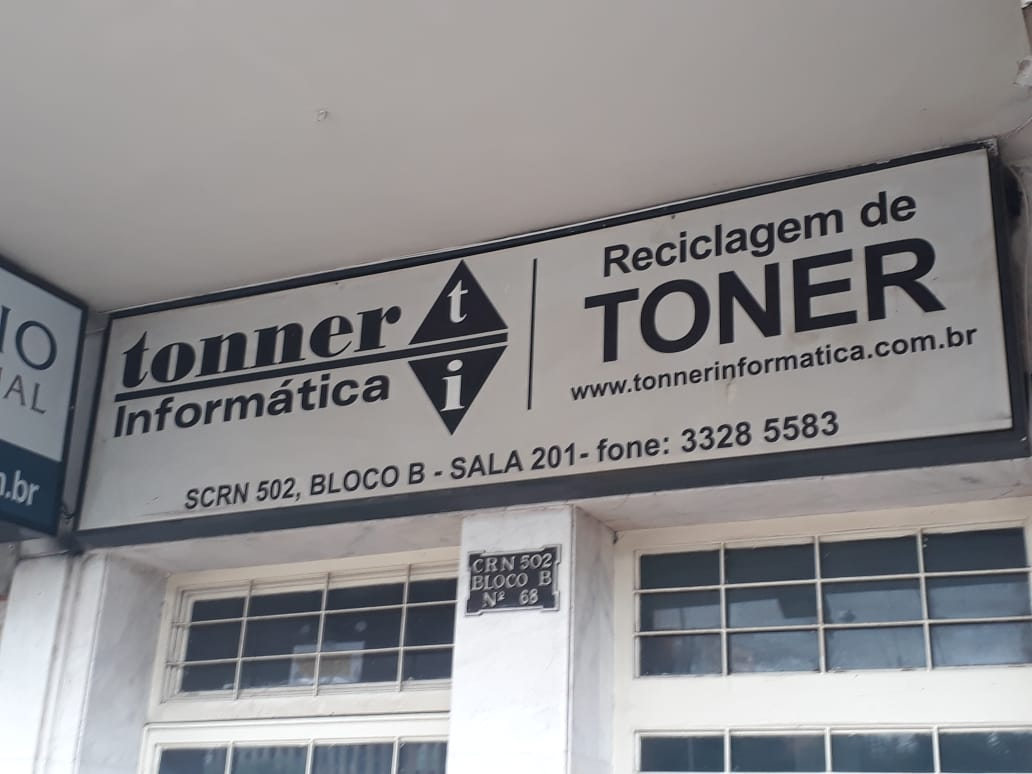 Tonner Informática, Reclclagem de Toner, Quadra 502 Norte, Bloco B, Sala 201, W3 Norte, Asa Norte, Comércio Brasilia