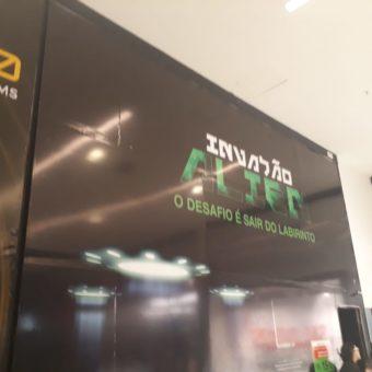 Invasão Alien, o desafio é sair do labirinto, JK Shopping, Avenida Hélio Prates, Taguatinga Norte, Comércio de Brasília, DF