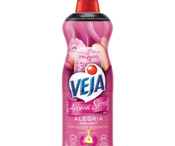 Limpador Perfumado Alegria Veja Aroma Sense Frasco 1l