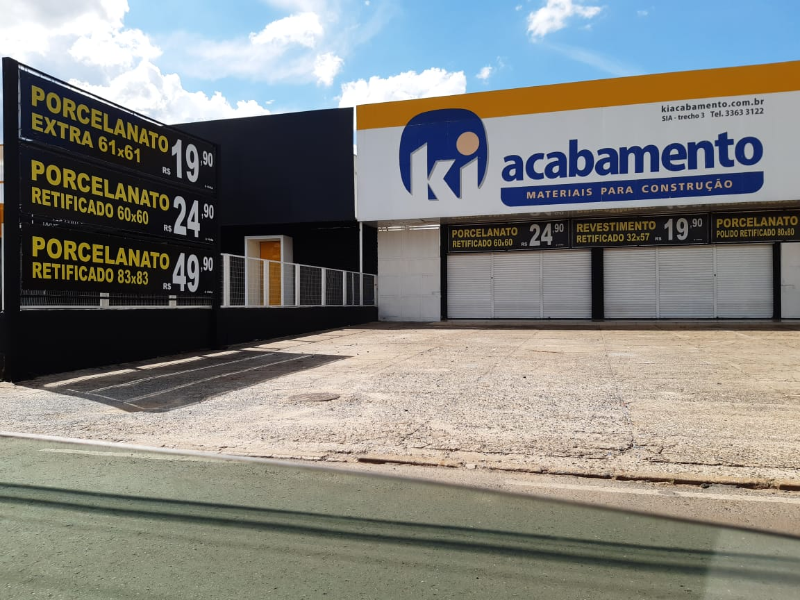ki Acabamentos materiais para construção, SIA Trecho 3, Comercio Brasilia