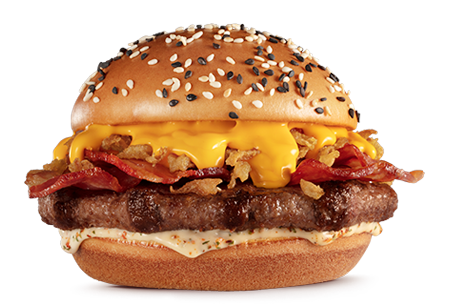 PICANHA CHEDDAR BACON, MC DONALDS