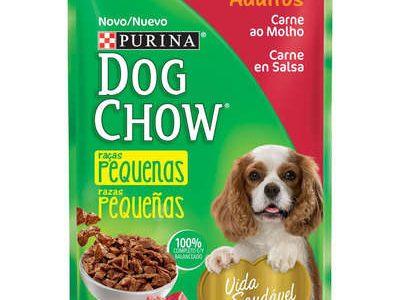 Ração Úmida Nestlé Purina Dog Chow Sachê Carne ao Molho para Cães Adultos Raças Pequenas