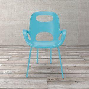 Cadeira Aproximação Umbra Oh Chair de Polipropileno Turquesa