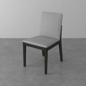 Cadeira Laila II de Madeira Maciça Cinza Claro e Ébano