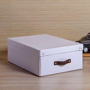Caixa Organizadora Bigso Branca  33x44cm