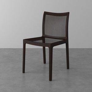 Cadeira Lina de Madeira Maciça Preta e Ébano