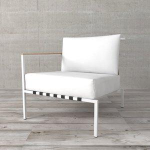 Módulo de Sofá de 1 Lugar Lado Esquerdo Surin de Polywood Branco