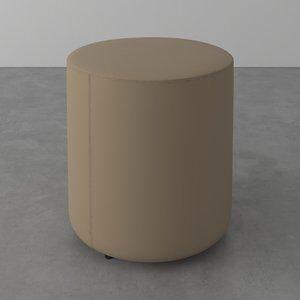 Puff Vip de PVC Bege D40cm