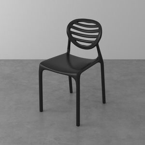 Cadeira Penha de Polipropileno Preta