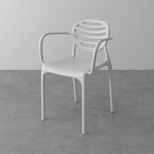 Cadeira Penha de Polipropileno com Braço Branca