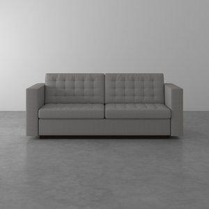 Sofá de 3 Lugares Albany Gaudi Cinza 215cm