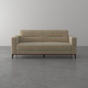 Sofá de 3 Lugares Madah de Veludo Bege 195cm