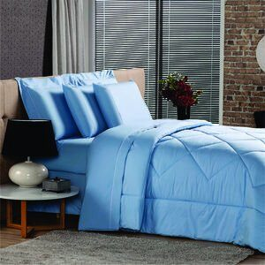 Jogo de Cama Queen Premium Azul