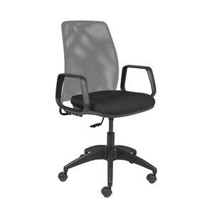 Cadeira Diretor Preta e Cinza