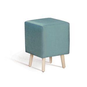 Puff Dado Palito Veludo Azul