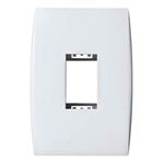 Espelho Placa 4X2 Para 1 Módulo Vertical Ilus Siemens Branco