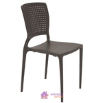 Cadeira Tramontina Safira Marrom sem Braços em Polipropileno e Fibra de Vidro Tramontina