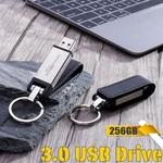 128 GB 256 GB de couro USB 3.0 Flash Pen Drive Memory Stick Key Thumb U Disco Presentes