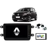 Kit Central Multimídia SANDERO - Mp8 + Moldura + Câmera + Tv + Interface de volante P&P