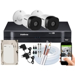 Kit 2 Câmeras Intelbras 1010b G5 Dvr 1104 Intelbras Multi Hd