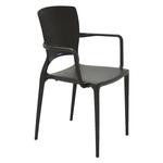Cadeira Sofia Com Braços e Encosto Fechado Polipropileno Tramontina