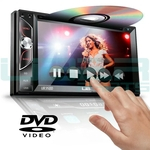 Central Multimídia DVD MP5 2Din Universal BT Espelhamento