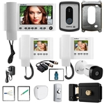 Mega Kit Video Porteiro Camera IV 7010HS Intelbras Completo