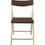 Cadeira De Madeira Dobravel Sem Braco Em Madeira Teca Natural E Polipropileno Marrom Tramontina