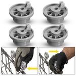 Rolo AP2802428 da roda da cesta da máquina de lavar louça 4x mais baixa, 165314 para Bosch-Neff Siemens
