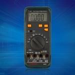 Mult¨ªmetro digital AC DC Voltage Tester Frequ¨ºncia Detectar Continuidade Preto