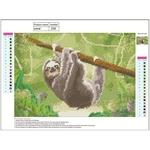 40 * 30cm Diamante Pintura Sloth E720 Diy Diamante Pintura Ponto de Cruz Kits