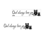 Removível 14x57cm auto-adesivo Wall Sticker Owl Decor Exquisite Wall Stickers