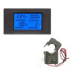 Power Meter Digital Monitor de 100A AC Current Voltage khw medidor da energia Tester