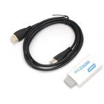 Para Wii para HDMI HD VideoUpscaling conversor adaptador Branco + cabo HDMI