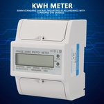 Medidor de energia em trilho DIN 4P, 20-80A monofásico LCD trilho DIN Eletricidade Consumo de energia Wattímetro Medidor de energia para Oficina Wareh