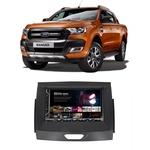 Central Multimídia Ford Ranger 2016 a 2020 Espelhamento iOS Android 7 Polegadas Bluetooth USB SD Fm